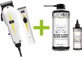 WAHL Super Taper Tondeuse + Super Trimmer Combipack + Monster Clippers Clean & Cool Blade Spray + Monster Clippers Oil voor Tondeuses en Trimmers