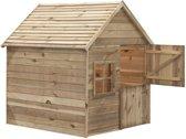 Swing King speelhuis Louise deLuxe 135x130x145cm - Geïmpregneerd FSC hout