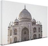 Taj Mahal India Canvas 30x20 cm - Foto print op Canvas schilderij (Wanddecoratie)