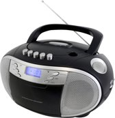 Soundmaster SCD6900SW - CD boombox met radio en cassette - zwart