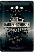 Harley-Davidson Things Are Different Metalen Wandbord 20x30 cm