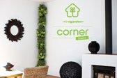 Minigarden® Corner Column - Basis Set Hoek voor verticale tuin - geschikt voor max. 8 planten - WIT (inclusief Minigarden Irrigatiekit + Fixers)