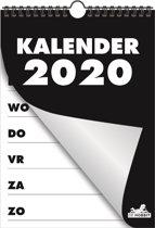 Hobbit kalender D1 spiraal omslag weekkalender 2020 (A4 formaat) zwart