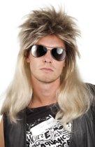 """""""Blonde pop-rockpruik voor mannen - Verkleedpruik - One size"""""""