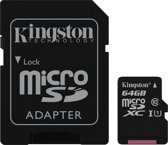 Kingston Geheugenkaart 64GB Class 10 + Adapter