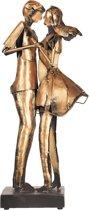 Kunstvoorwerp dansend paar 28*20*64 cm Bruin | 5ART0007 | Clayre & Eef