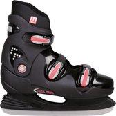 Nijdam 0089 Ijshockeyschaats - Hardboot - Maat 35 - Zwart/Rood