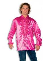 Rouche overhemd voor heren roze 2xl