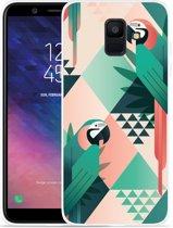 Galaxy A6 2018 hoesje Exotic Trendy Parrots