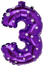 Cijferballon 40 cm nummer 3