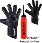 Elite - Neo Black - Keepershandschoenen - inclusief Keepersbidon - maat 7 - voetbal keepershandschoenen - keepershandschoen - Goalkeeper handschoen