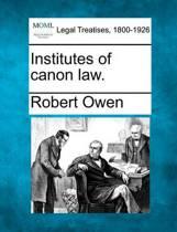 Institutes of Canon Law.