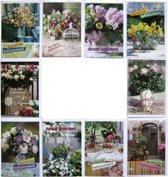 Verjaardagskaarten - Set van 10 - Bloemen