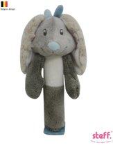 "Steff konijntje ""Rabbit"" knijpspeeltje blauw"