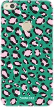 FOONCASE Huawei P8 Lite 2017 hoesje TPU Soft Case - Back Cover - WILD COLLECTION / Luipaard / Leopard print / Groen