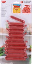 Alpina Zakklemmen - 10 stuks - Bag clips - Verschillende maten - Afsluiten - Plastic Klem - Vershoudclips - Vershoudknijpers