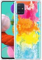 Samsung Galaxy A51 Hoesje Color Splatters