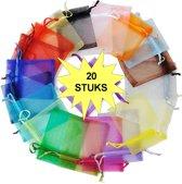 Fako Bijoux® - Organza Zakjes - 9x12 cm - Mix - 20 Stuks