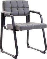 Clp Canada B - Eetkamersstoel - Kunstleer - grijs zwart matmetaal