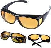 Overzetzonnebril Auto - Gele Glazen - Zwart