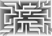 Fotobehang Abstract Pattern Modern   XXL - 206cm x 275cm   130g/m2 Vlies