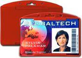 Kaarthouder / badgehouder rood 10 stuks (KPS1)