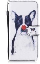 Hoesje geschikt voor Samsung Galaxy S8, 3-in-1 bookcase met print, hond met rode neus