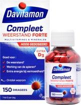 Davitamon Compleet Weerstand Forte - Multivitaminen en mineralen - Dragees 150 stuks