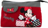 Minnie Mouse I Love Shopping - Toilettas - Rood
