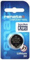 1 Stuk - Swiss Made CR2320 Renata lithium knoopcel batterij