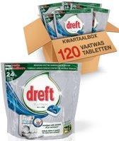 Dreft Platinum Blue - Kwartaalbox 120 stuks - Vaatwastabletten