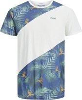 JACK&JONES JUNIOR Jongens T-shirt - Cloud Dancer - Maat 176
