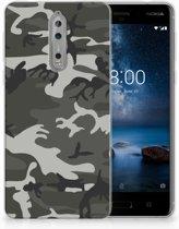 Nokia 8 Uniek TPU Hoesje Army Light