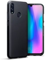 Hoesje voor Huawei P Smart (2019) en Honor 10 Lite, gel case, mat zwart