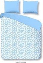 Good Morning 4590-A Cells - dekbedovertrek - lits jumeaux - 240x200/220 cm  - 100% cotton - blauw