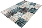 Lifa Living Patchwork Dark Grey Blue - 160 x 230