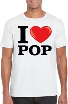 I love pop t-shirt wit heren XL