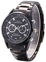 Spy Watch - Horloge met Camera- full hd - 8GB - steel zwart
