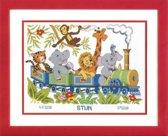 borduurpakket 70.657 jungle, geboorte, dierentrein