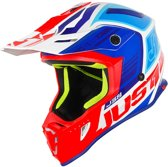 Just1 J38 Crosshelm Blade Blue/Red/White Gloss-XS