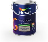 Flexa Creations - Muurverf Extra Mat - Authentic Grey - Mengkleuren Collectie - 5 Liter