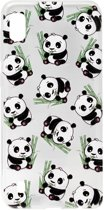 ADEL Siliconen Back Cover Softcase Hoesje voor Samsung Galaxy A10/ M10 - Panda's