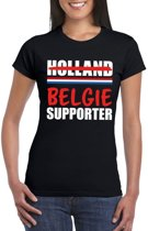 Zwart Belgie shirt voor teleurgestelde Holland supporters dames XL