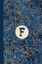 Monogram F Marble Notebook (Blue Ginger Edition)
