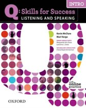 Q: Skills for Success- Listening and Speaking: Intro student book + online practice