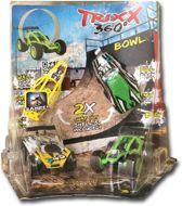 Trixx 360 2 Stuntcars (groen/geel) incl. Stuntramp bocht