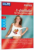 T-shirtfolie (8) - witte stoffen - a4 papierformaa