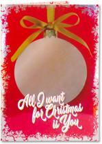 Kerstkaart - Wenskaart met muziek Mariah  Carey en verlichting - incl. envelop