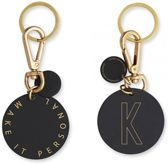 Personal Key Ring En Bag Tag - K