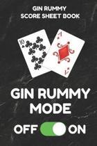 Gin Rummy Score Sheet Book